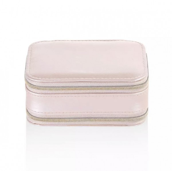 Mini Travel Case Pastell Rosa Schmuckbox